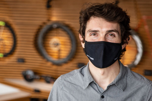 Photo of David with mask on