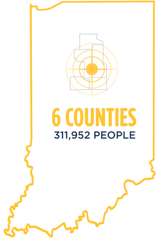 6 Counties - 311,952 People
